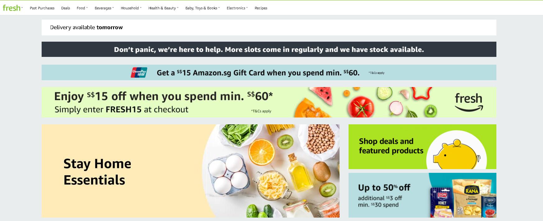 Amazon Fresh Online Grocery Store