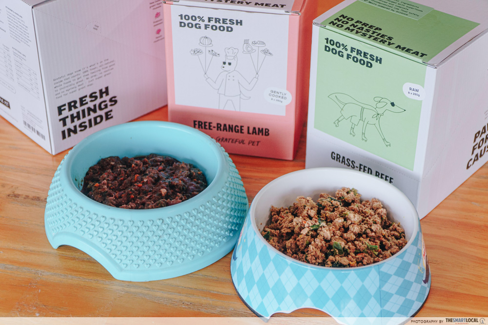 The Grateful Pet raw grass-fed beef and gently-cooked free range lamb