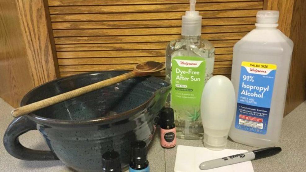 Making your own hand sanitiser