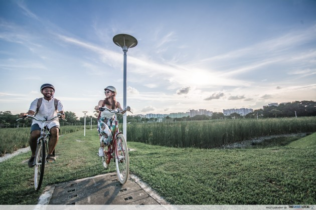 Long-distance cycling routes - lorong halus wetlands