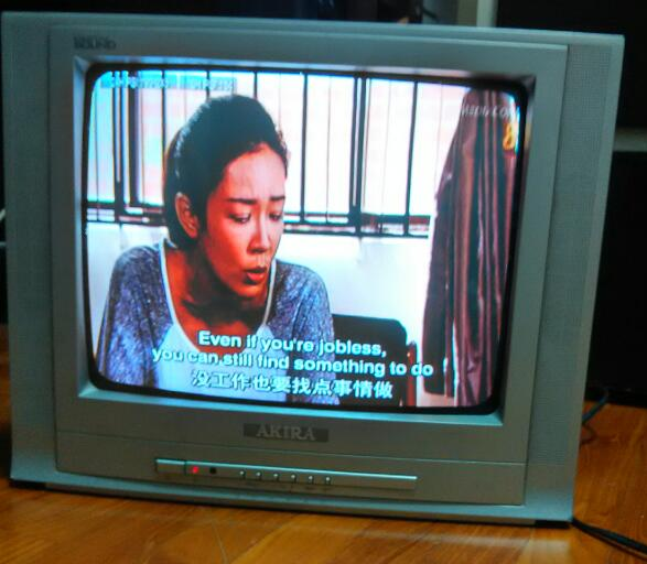 old TV playing channel 8 dramas with English subtitles