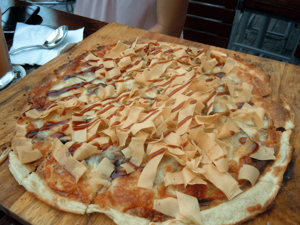 Timbre's Duck Pizza