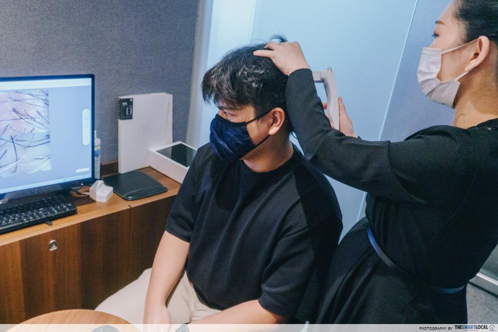PHS Hairscience treatment consultation
