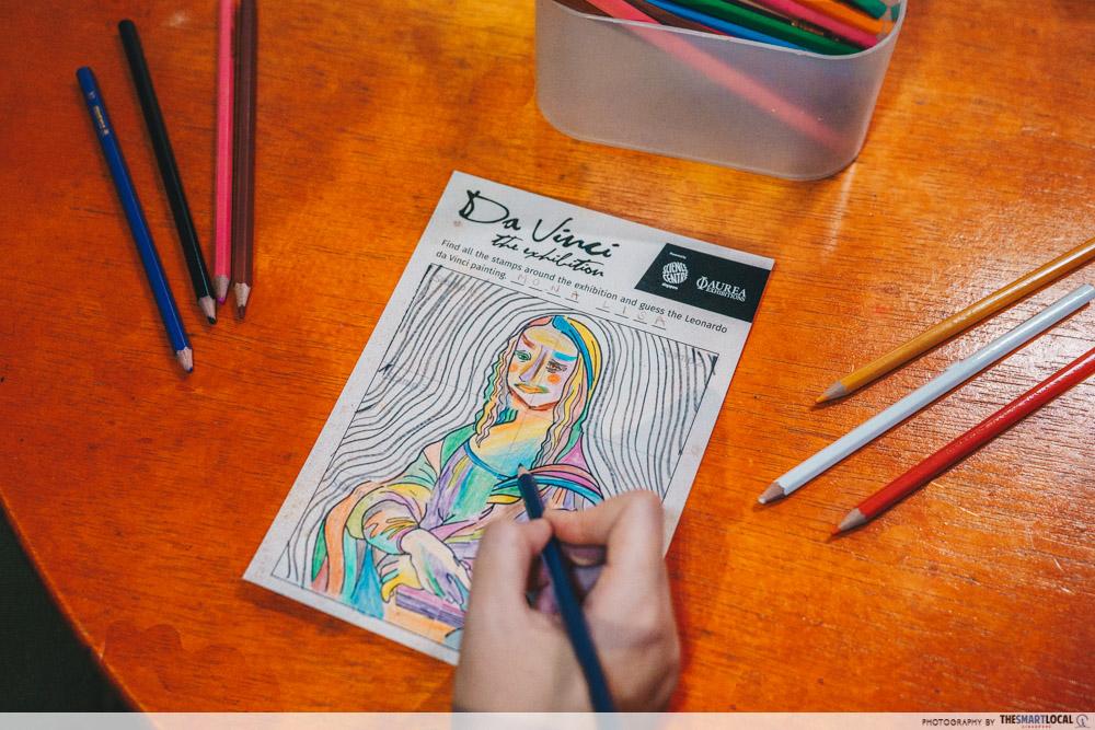 Da Vinci, The Exhibition - Colouring