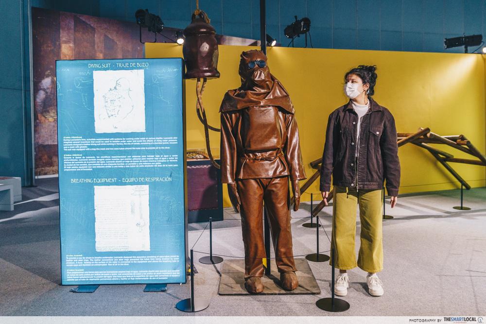 Da Vinci, The Exhibition - Diving suit