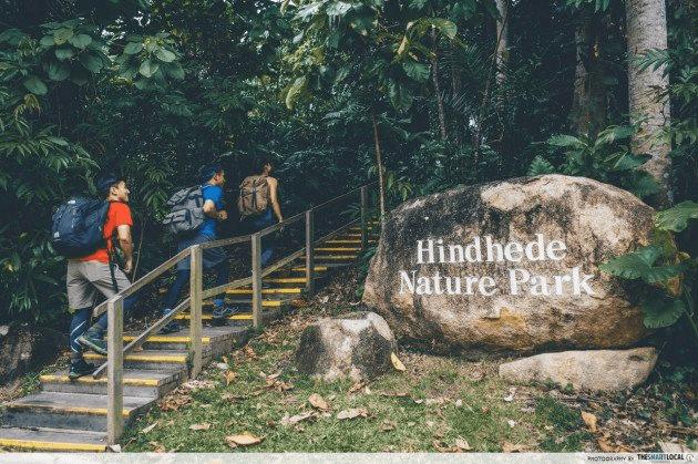 hindhede nature park - entrance