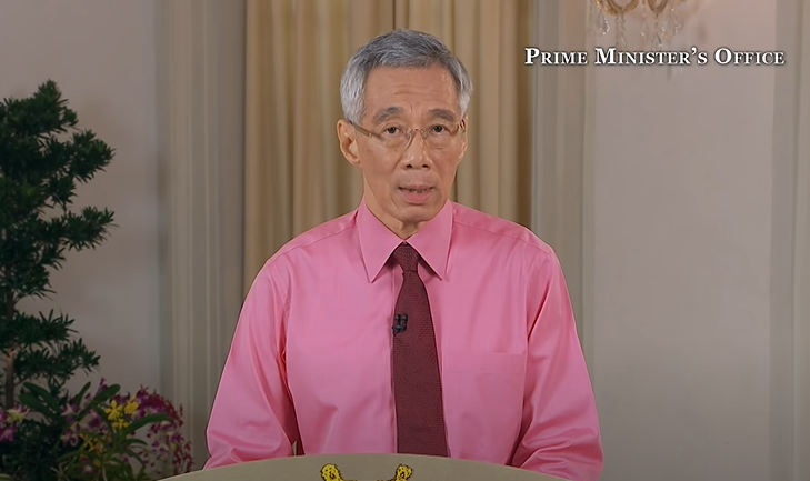 lee hsien loong pink shirt