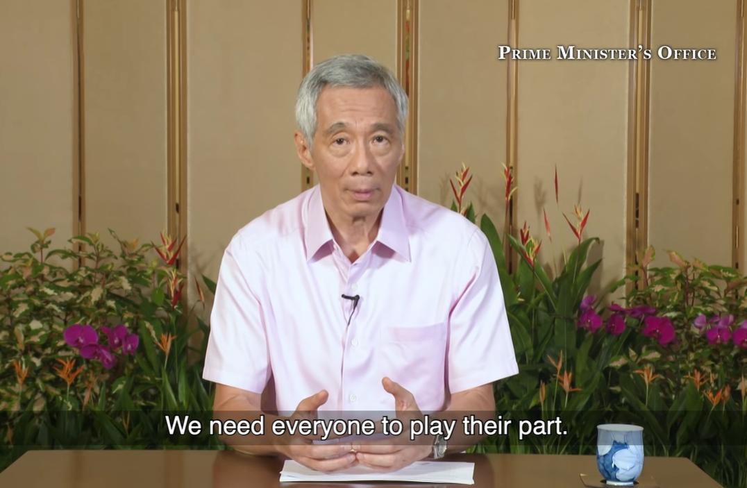 PM lee pink shirt in april 2020