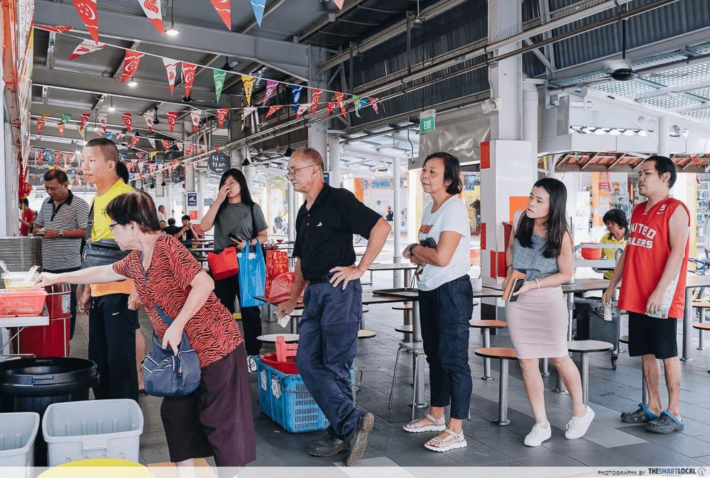 Singaporean Culture - Queuing in Kopitiam