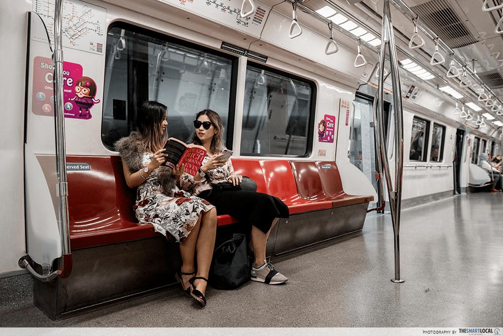 Taking MRT Singapore