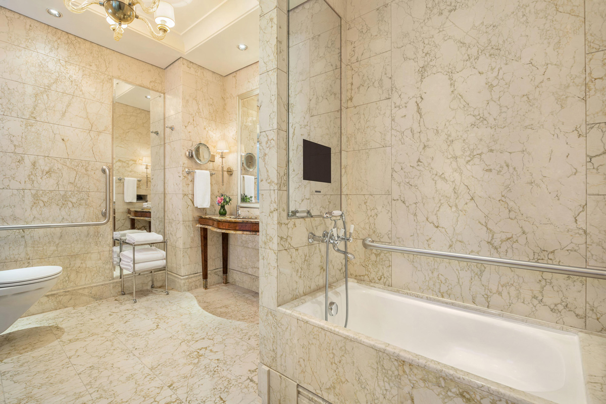 st regis singapore bathroom with accessible bars