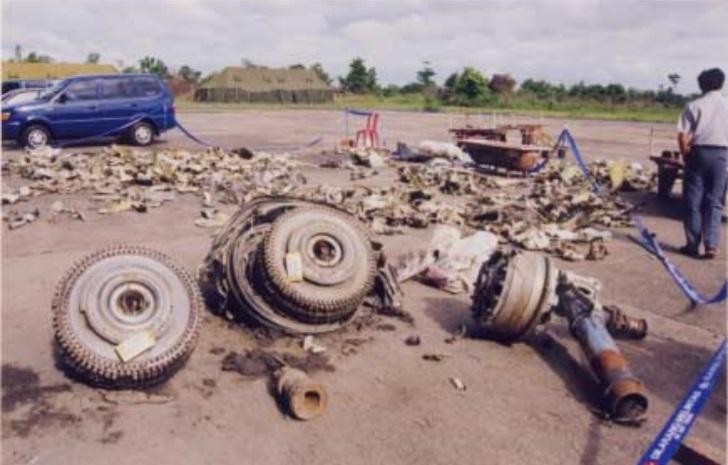 silkair plane crash debris