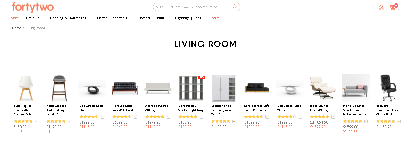 Where to buy furniture online in Singapore - FortyTwo