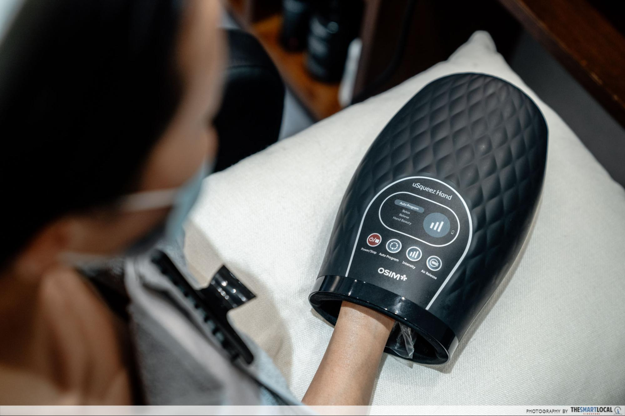 Chez Vous HideAway Ngee Ann City Hair Salon With Free Spa Perks - Aromatic Candle Hand Massage