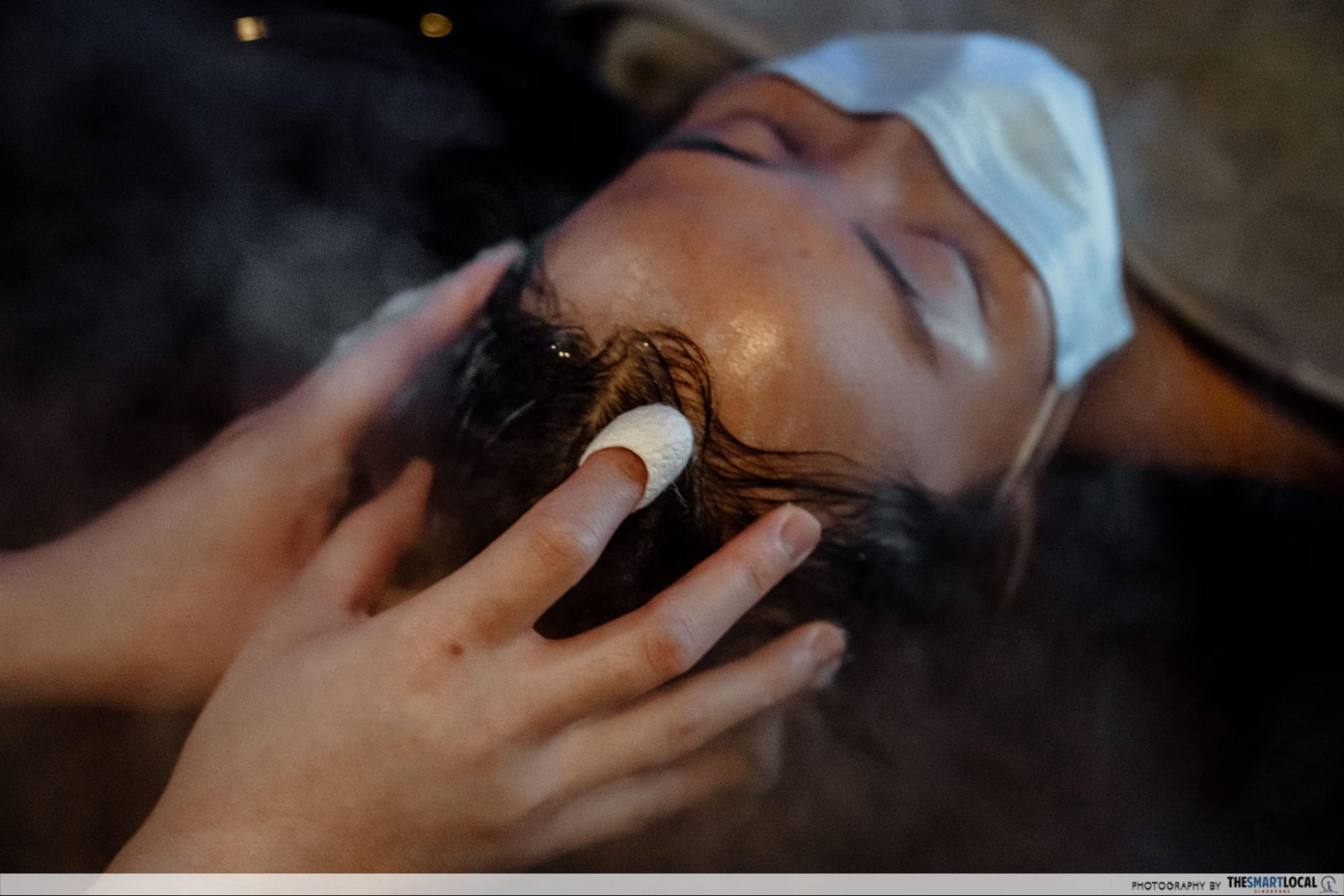 Chez Vous HideAway Ngee Ann City Hair Salon With Free Spa Perks - Silk Cocoon Scrub