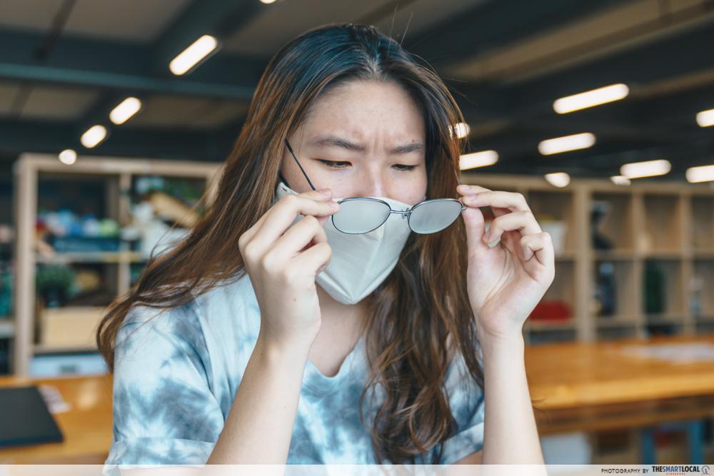 glasses fogging