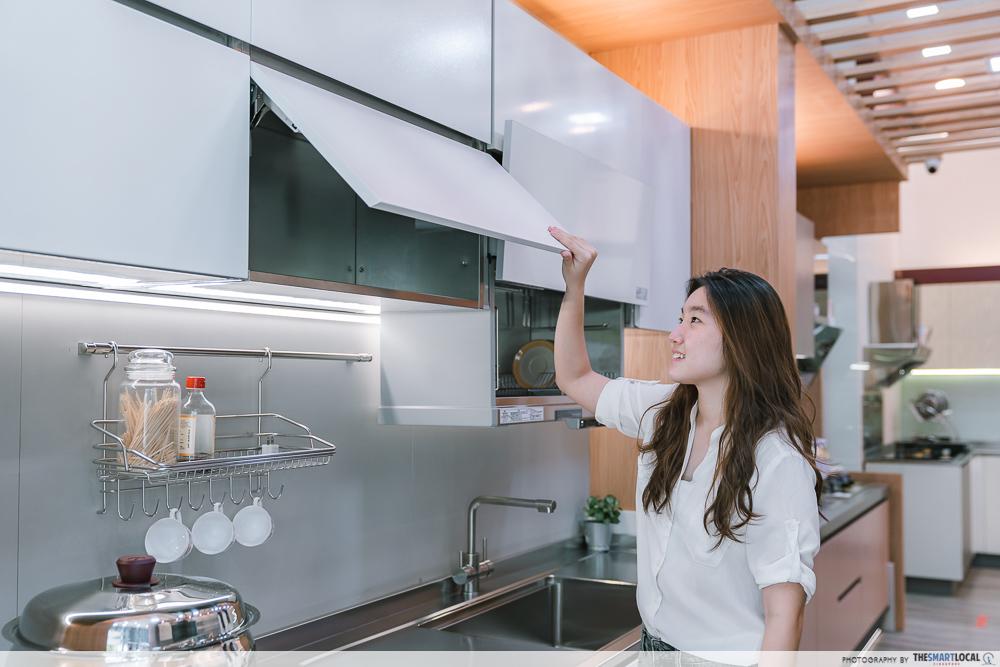 Tips on choosing long-lasting fixtures - minimise open shelves
