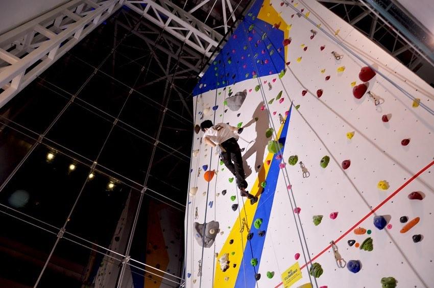 Go rock climbing at night