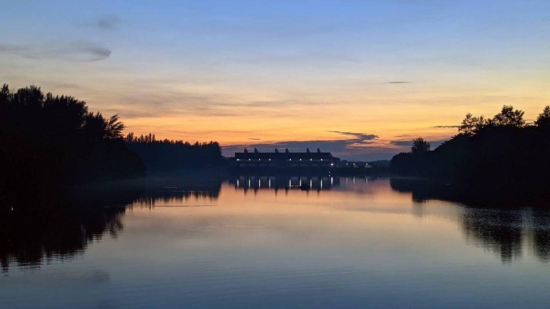 lorong halus wetland - river sunset
