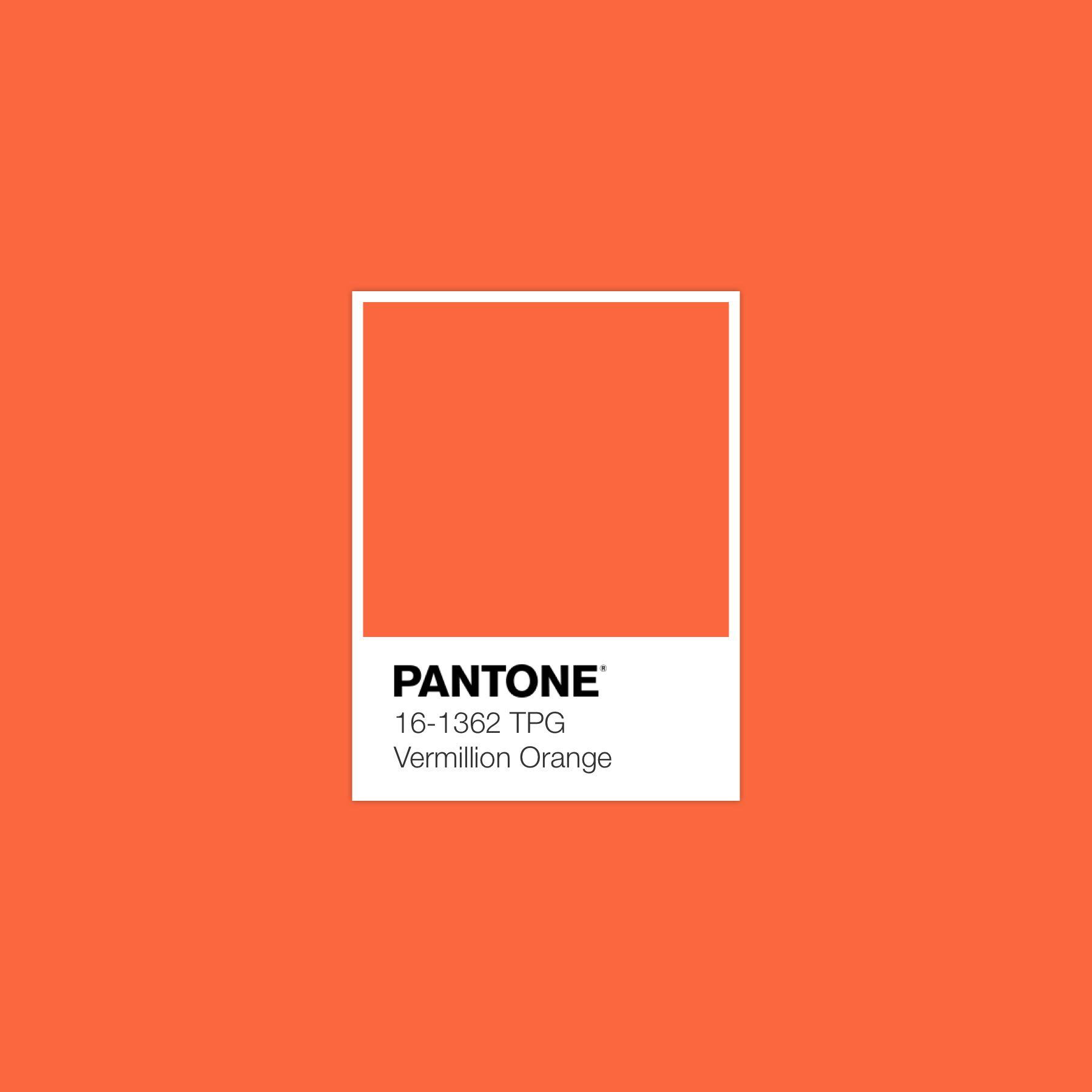 pantone vermillion orange