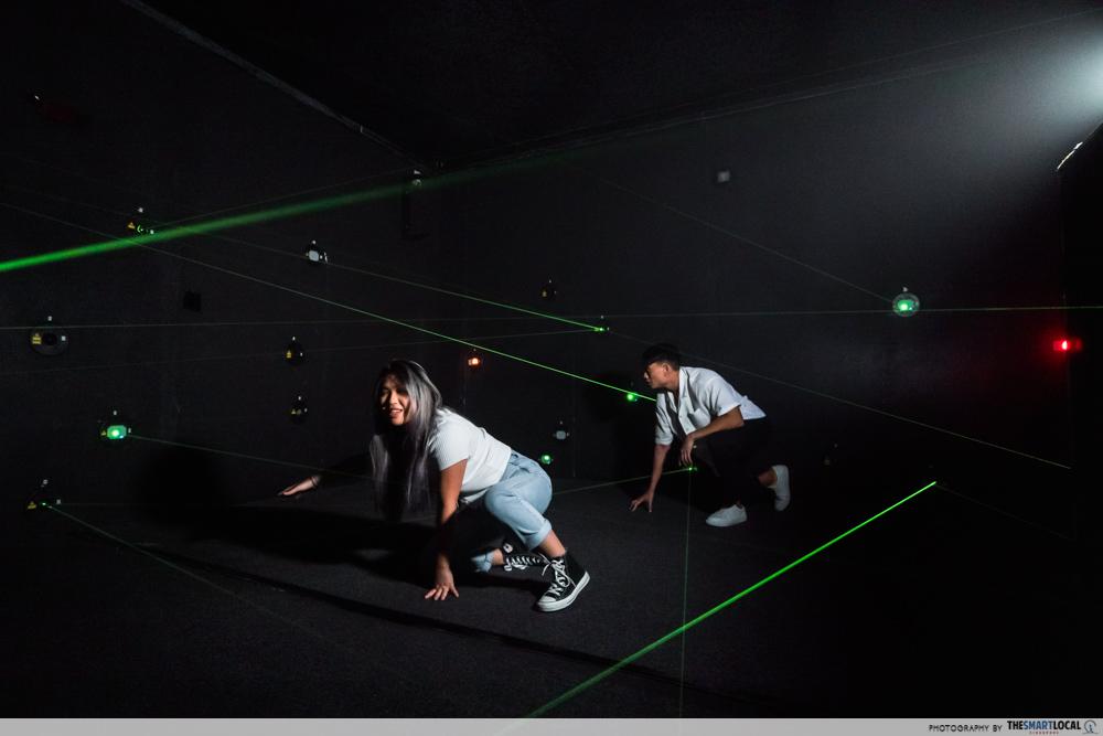 science centre singapore 2021 - laser maze