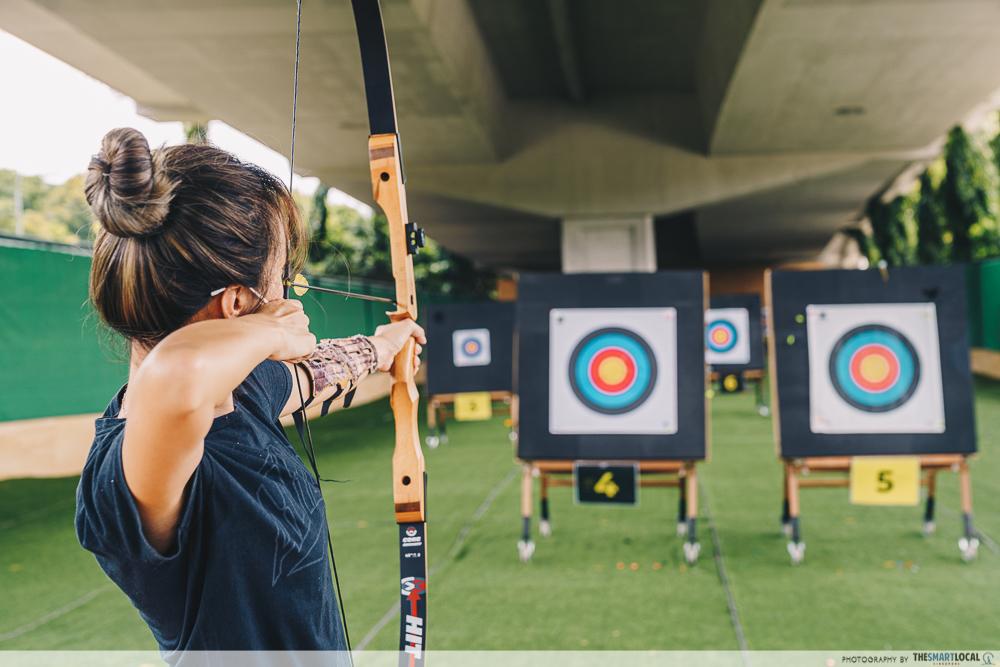 things to do in west singapore - archery slarchery salt & light archery west coast