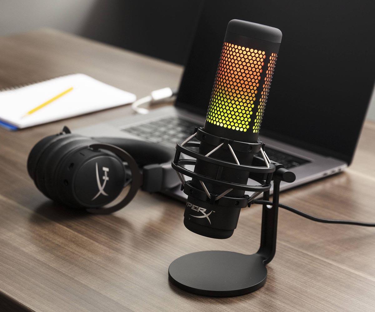 usb microphones singapore - hyperx quadcast s rgb lights