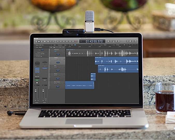 usb microphones singapore - samson go mic portable clipped on macbook pro