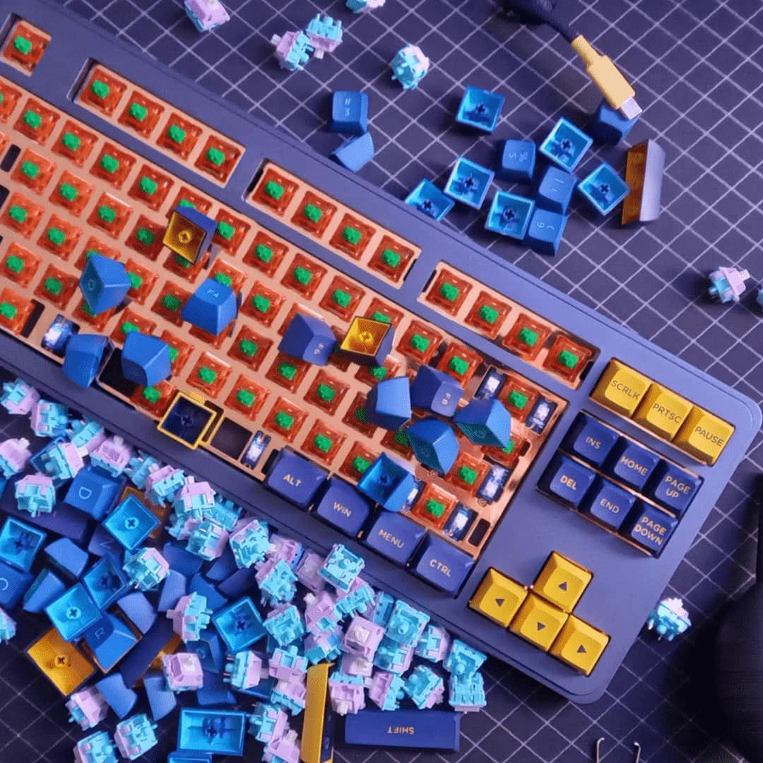 Aesthetic Bluetooth Mechanical Keyboard - Keyboard Switches