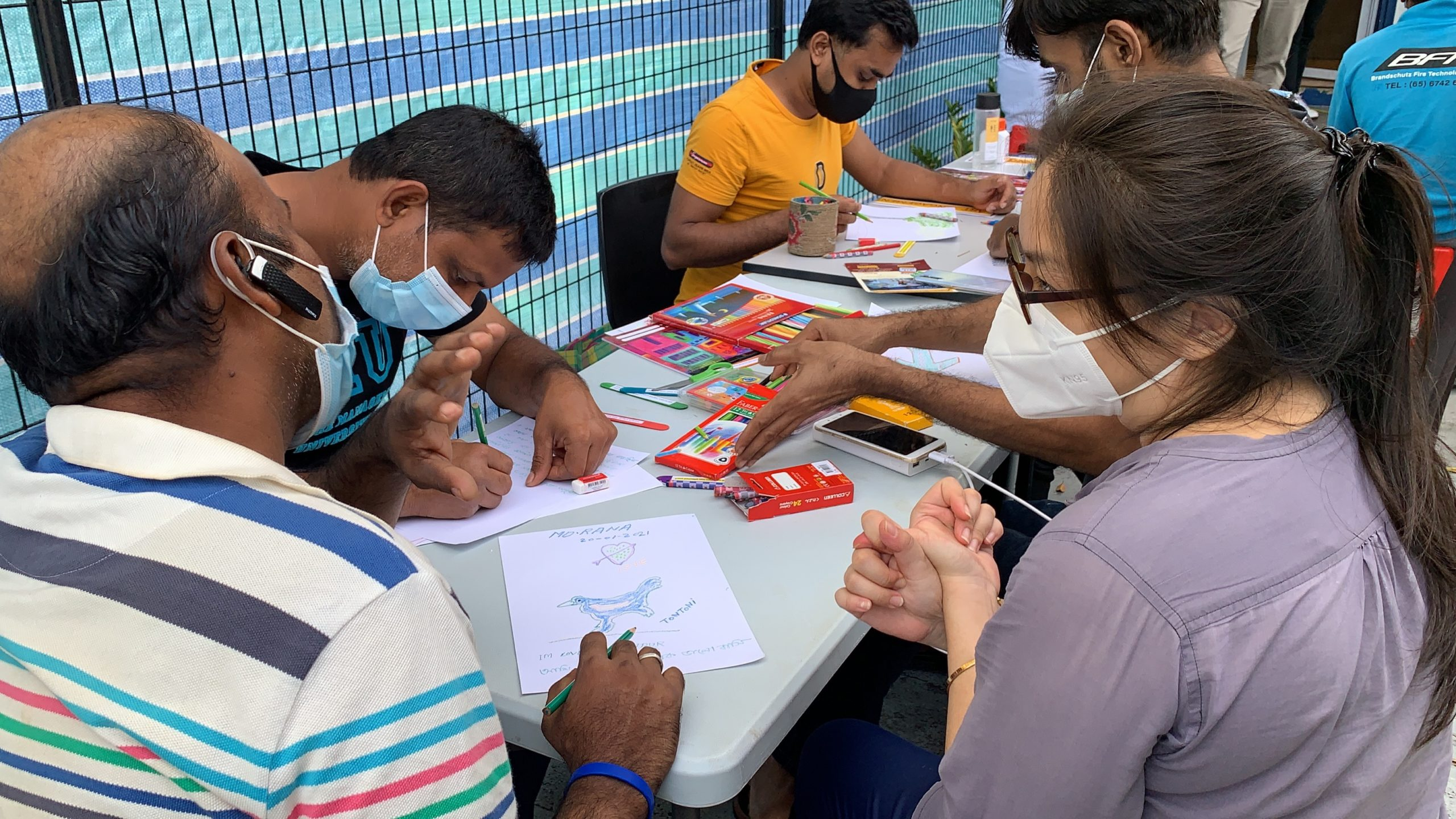 Art Engagement at healthserve clinic
