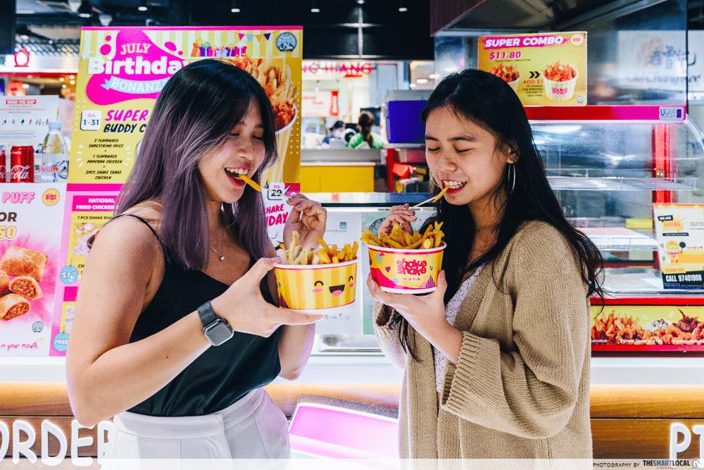 the clementi mall - shake shake fries