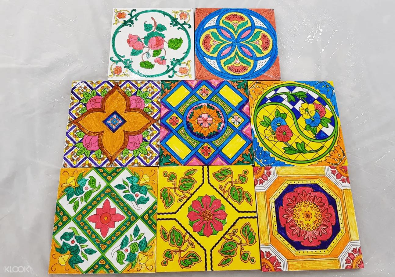 Date Ideas - Peranakan Tile Painting