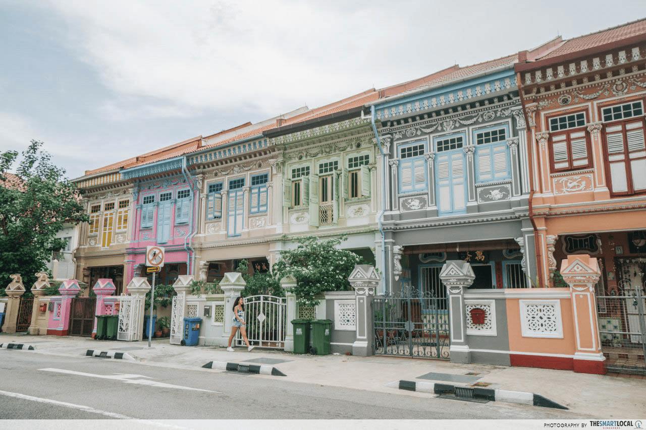 Singapore Joo Chiat Colourful Shophouses