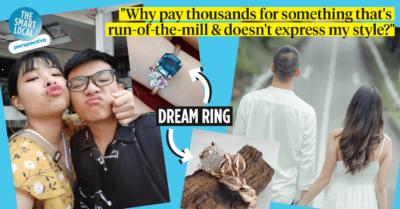 Non-Diamond Engagement Rings Singapore