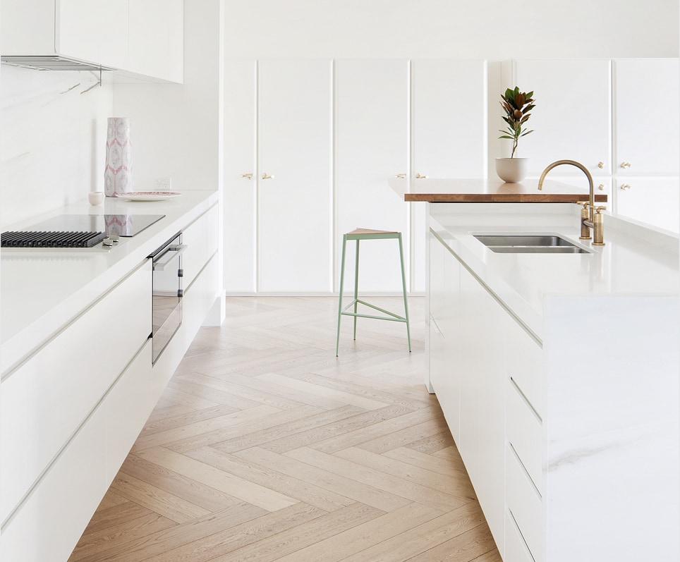 Flooring Mistakes - wood near sink