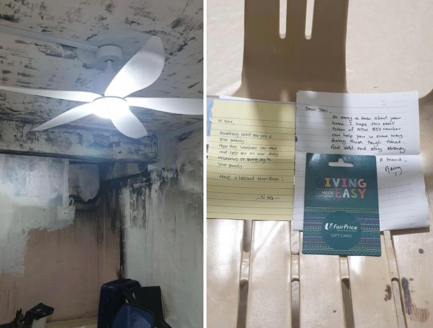 heartwarming stories singapore - contributions to victim