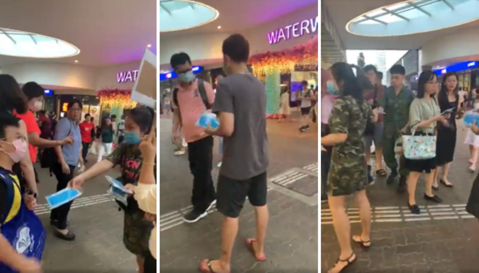 heartwarming stories singapore - punggol mask give out