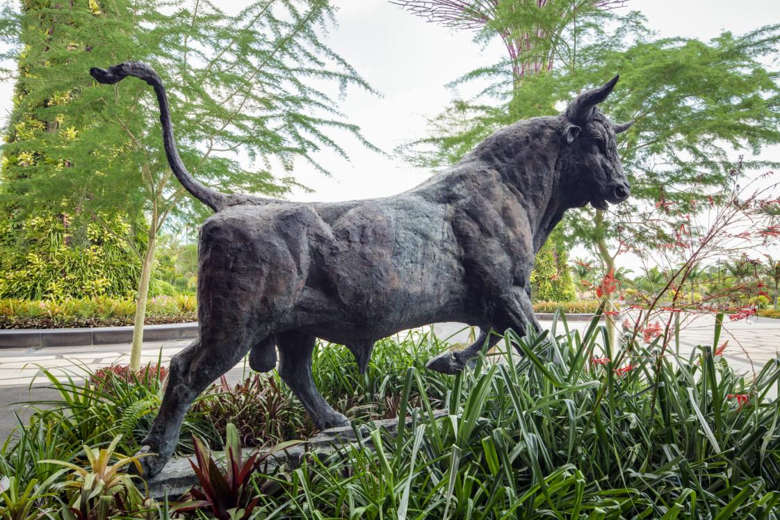 Unique sculptures in Singapore - The Magnificent Bull