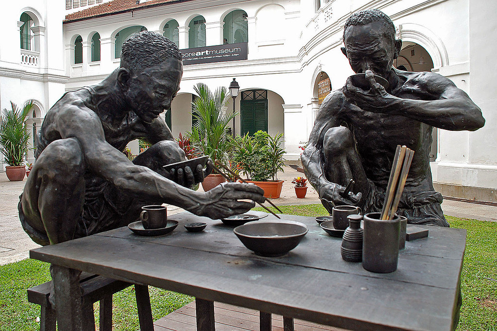 Unique sculptures in Singapore - Another Day (The Coolies)