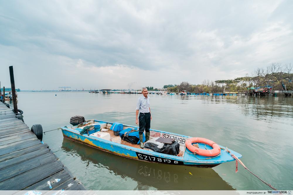 Jenal jetty - fisherman
