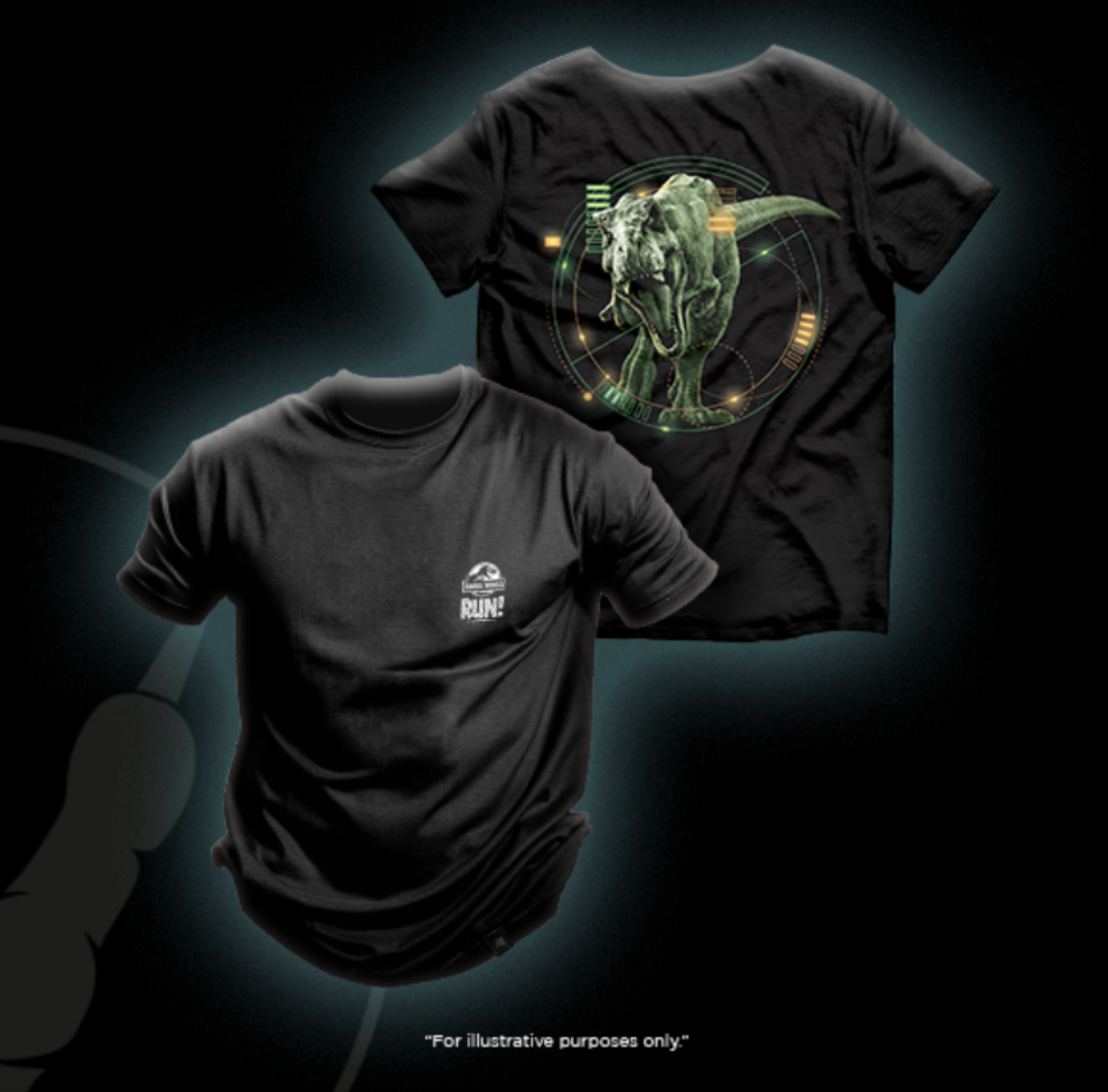 jurassic world run - finisher T-shirts and medals