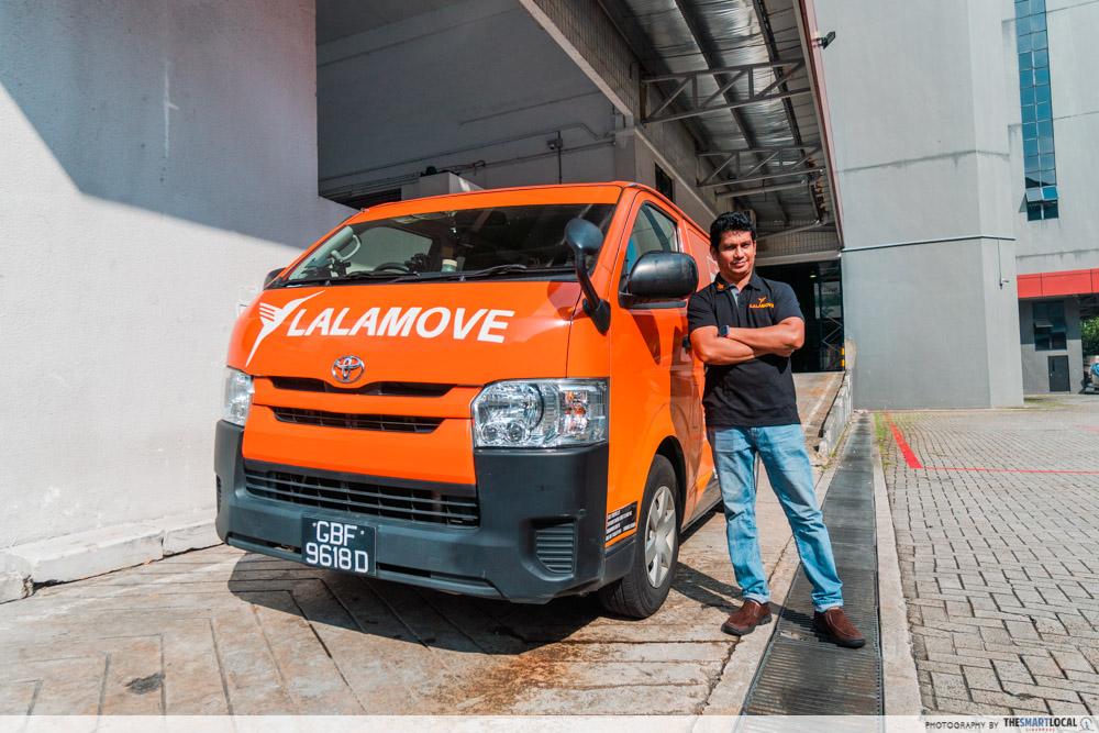 lalamove driver - van