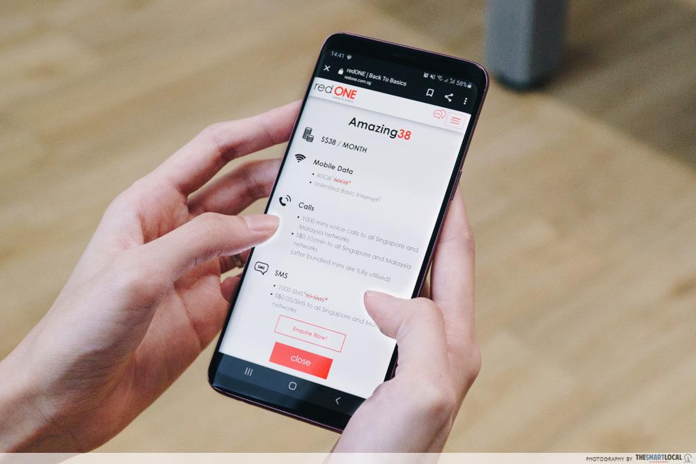 redONE mobile plan