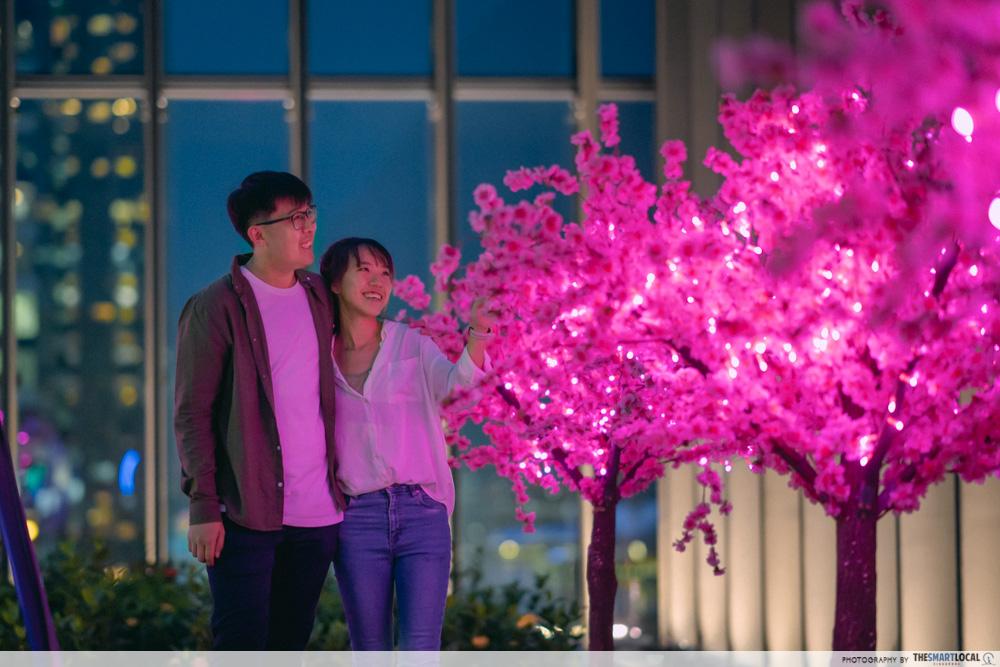 tanjong pagar art exhibit - sakura trees