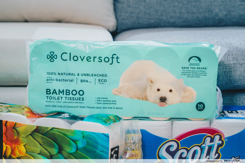 cloversoft toilet paper bamboo