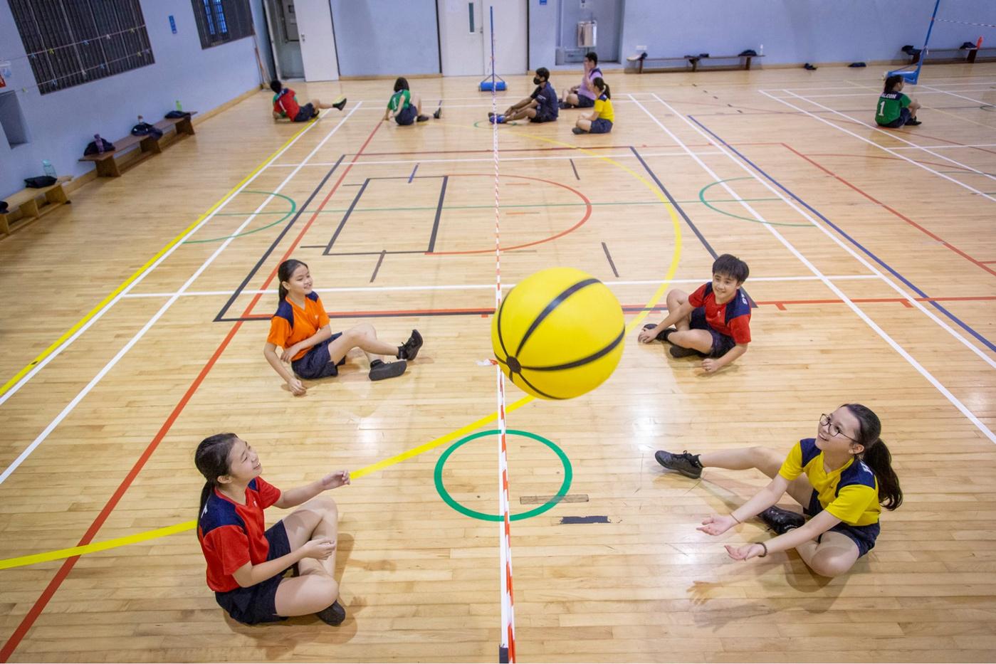 PE class in primary school
