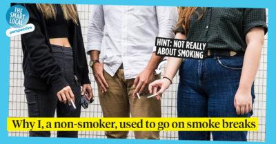 smoke break in Singapore