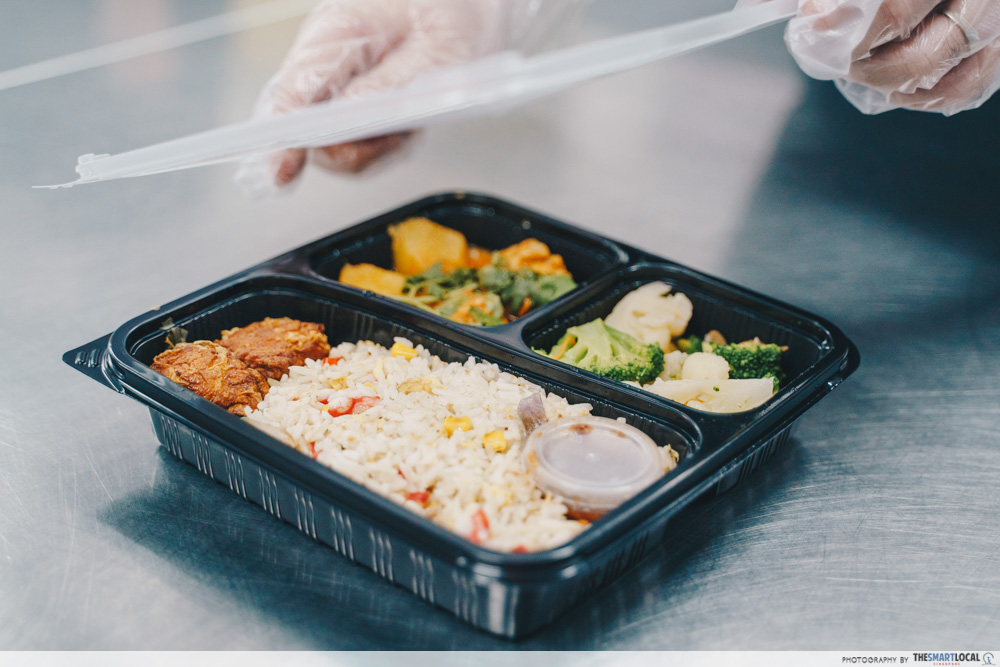 kitchen haus bento box with curry and rice