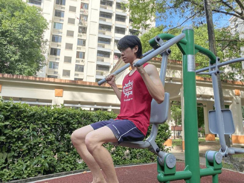 fitness corner - shoulder press
