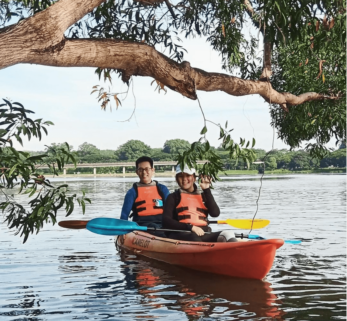 Kayakers at the reserve